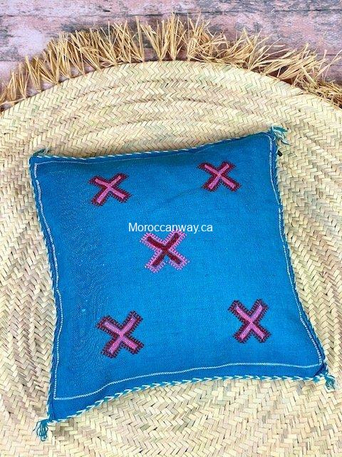 sabra pillow blue