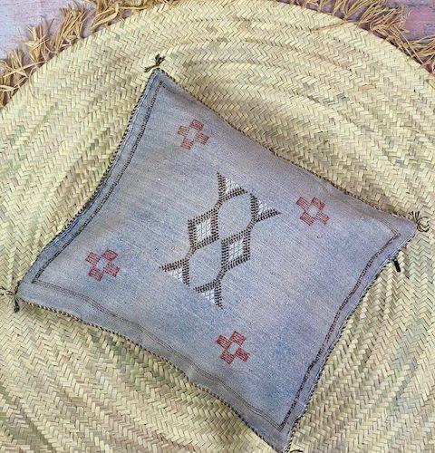 Grey cactus pillow