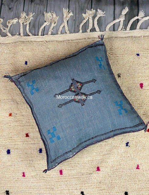grey cactus silk pillow