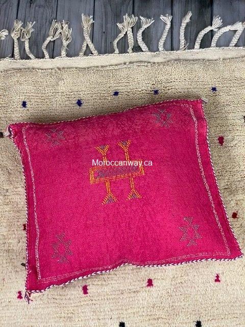 pink cactus silk pillow