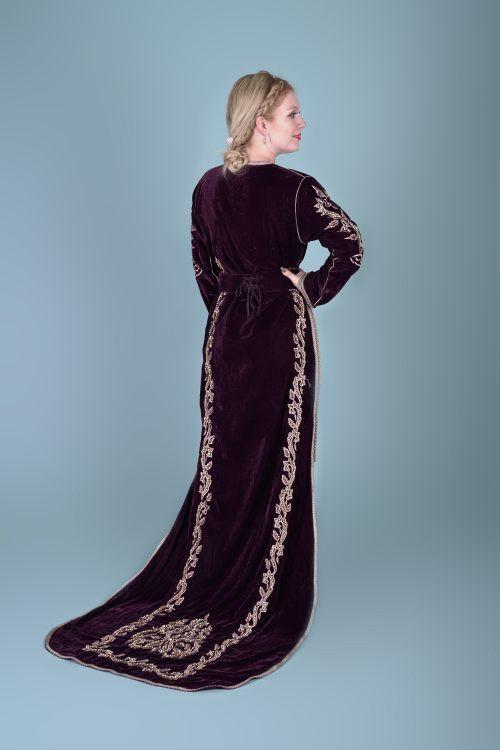 Long Tail caftan Burgundy