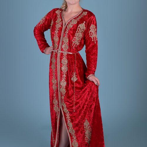 Red velvet Caftan