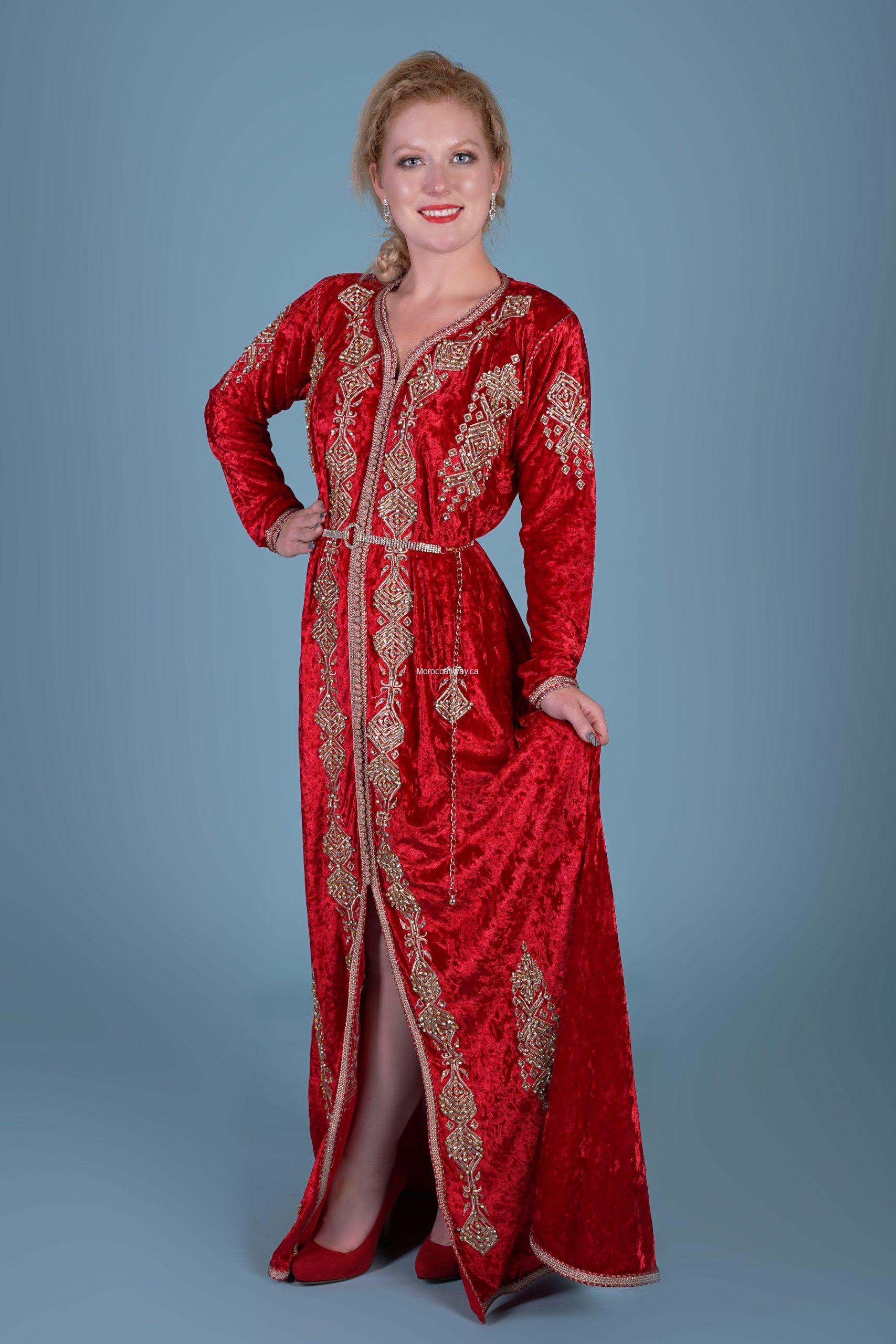 Red light Velvet Caftan