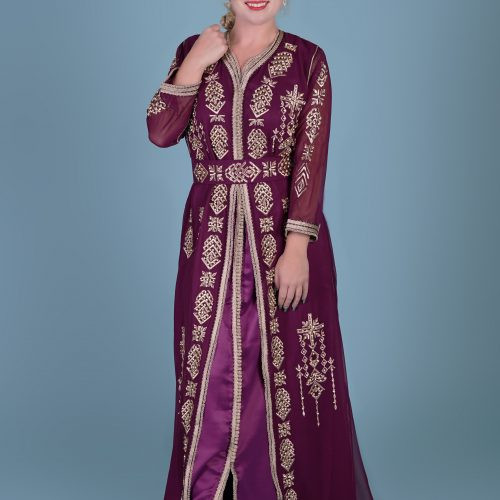 Purple fashion Caftan