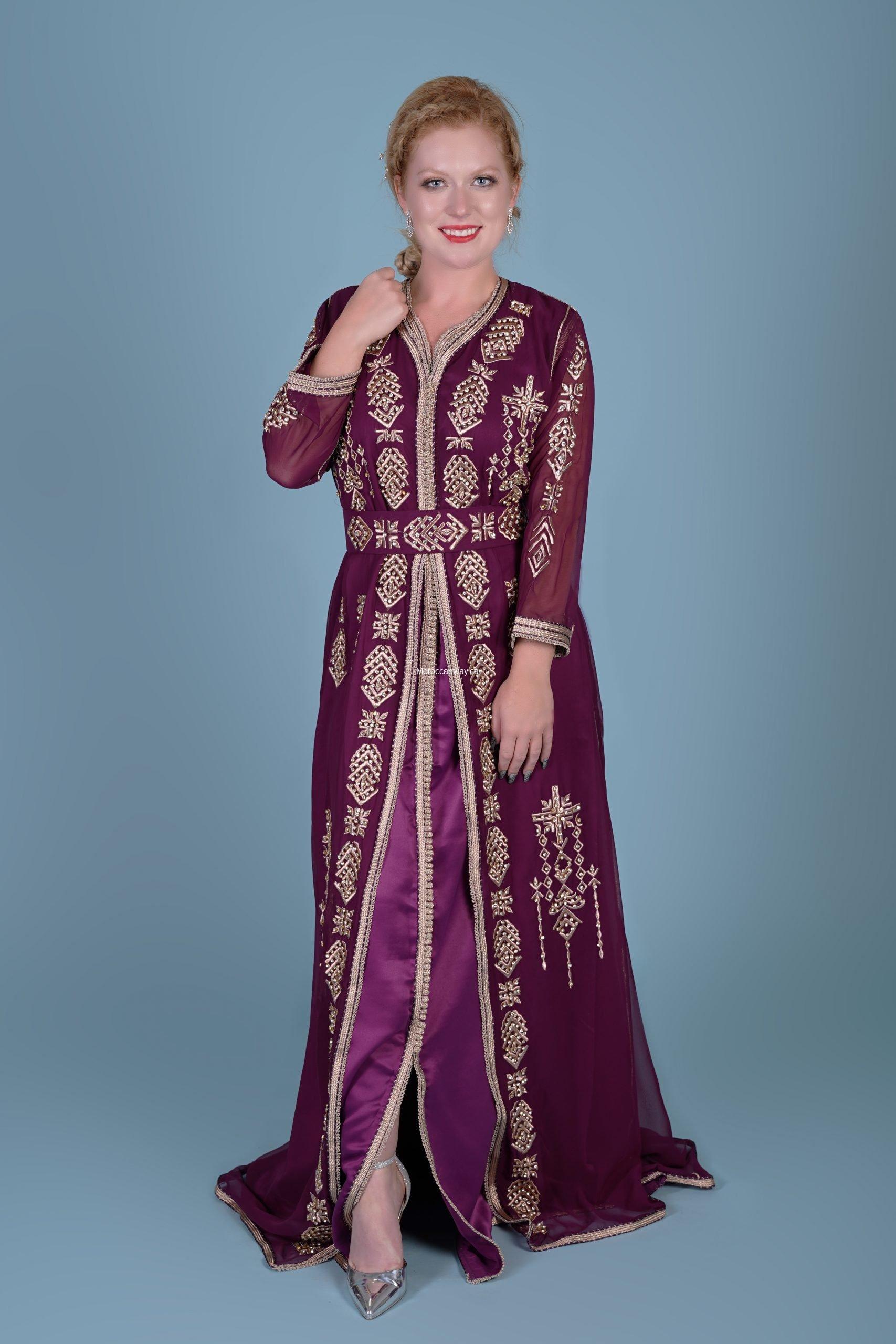 Purple Fashion Caftan