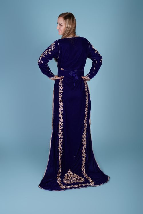 Long Tail royal Blue Caftan