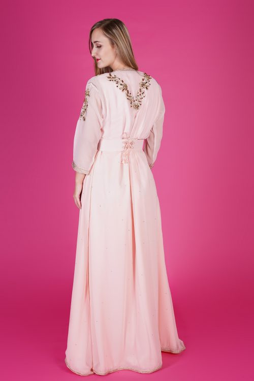 baby pink fashion caftan