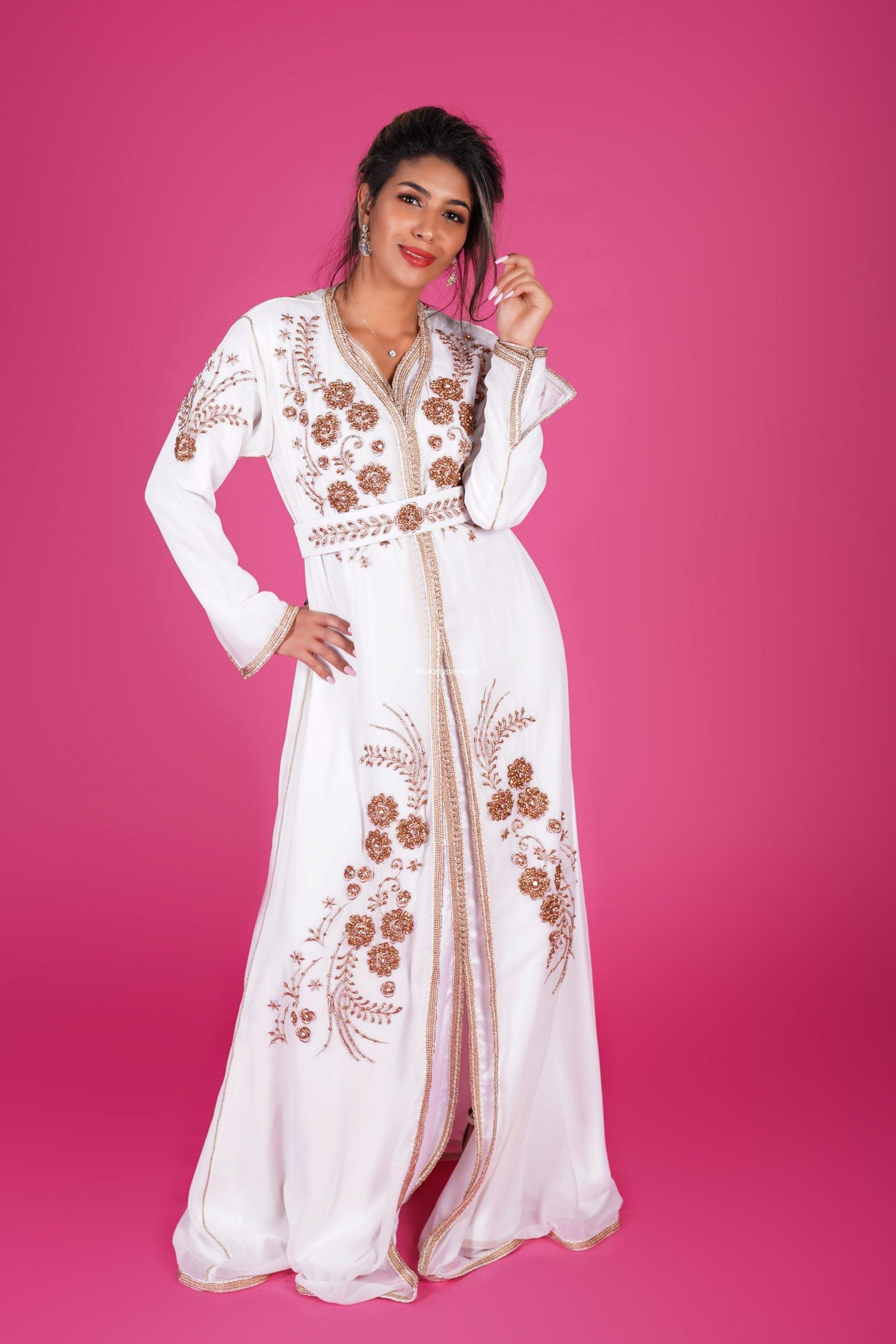 White muslin Fashion Caftan