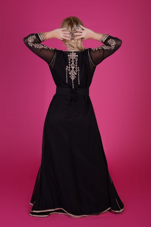black fashion caftan