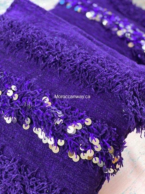 purple handira pillow