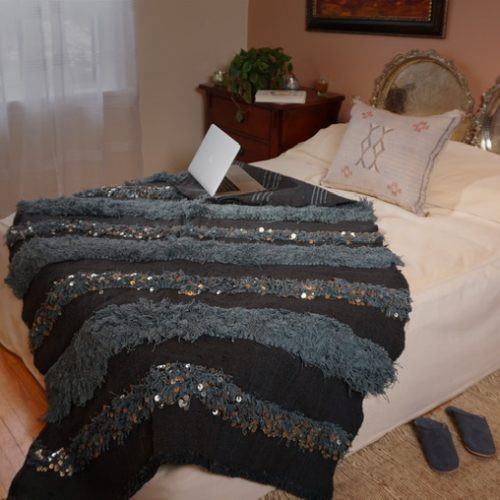 Grey handira blanket