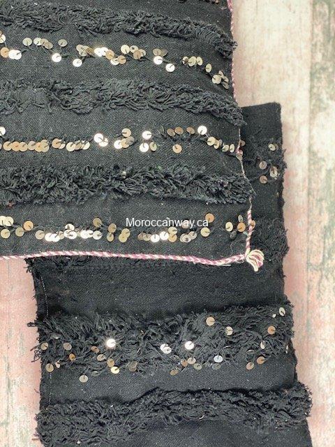 black handira pillow
