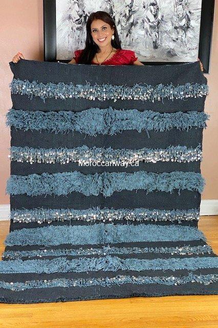 grey big handira blanket