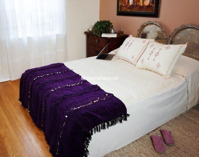 Small Handira Blanket purple