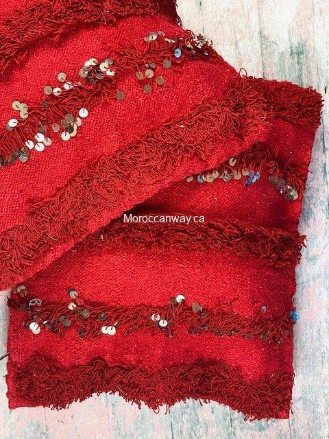 red berber pillow