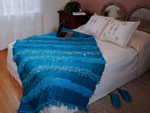 Turquoise blanket Handira