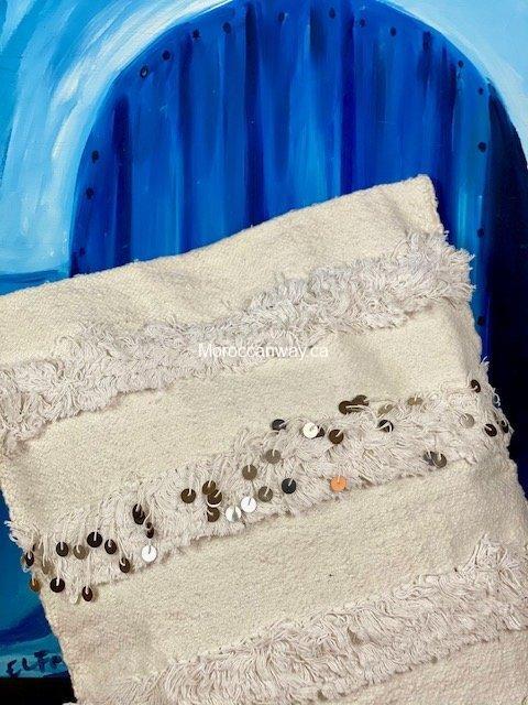 White Handira pillow