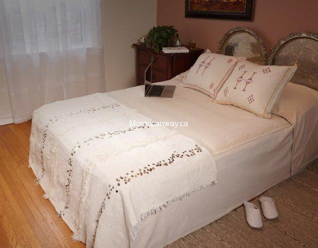 Small Handira Blanket White
